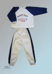 Jungen-Jogginganzug dunkelblau
