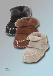Lammfell-Schuh mit Klettverschluss alle Farben