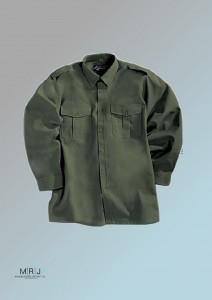 Pilotenhemd in oliv