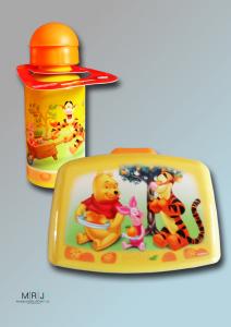 Trinkflasche und Brotbüchse mit Winnie Pooh Motiv