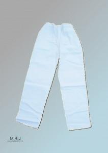 Bundhose in weiß