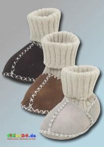 Lammfell-Schuh mit Strickbund - alle Farben