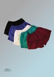 Turnhosen in fünf Farben
