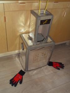 Roboter-Kostüm Marke Eigenbau