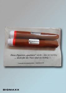 Taschentuch-Schmunzelpack zwei Zigarren