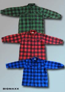 Holzfällerhemd in drei Farben