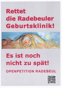 Für den Erhalt der Geburtsstation im Krankenhaus Radebeul